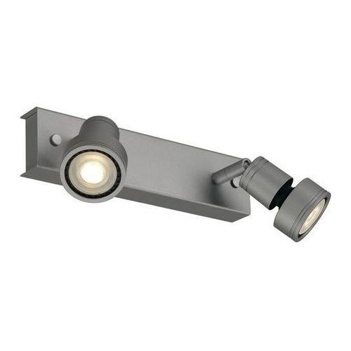 Slv Puri 2 lampa sufitowa srebrnoszara, 2xgu10, z pierścieniem dekoracyjnym (4024163144636)