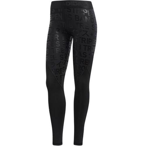 Legginsy adidas Alphaskin 3-Stripes DH3662, kolor czarny