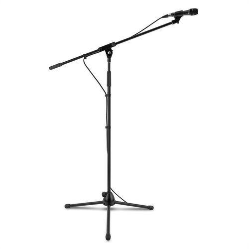 3 x km 04 zestaw mikrofonowy 4-częściowy mikrofon statyw zacisk kabel 5m c marki Auna