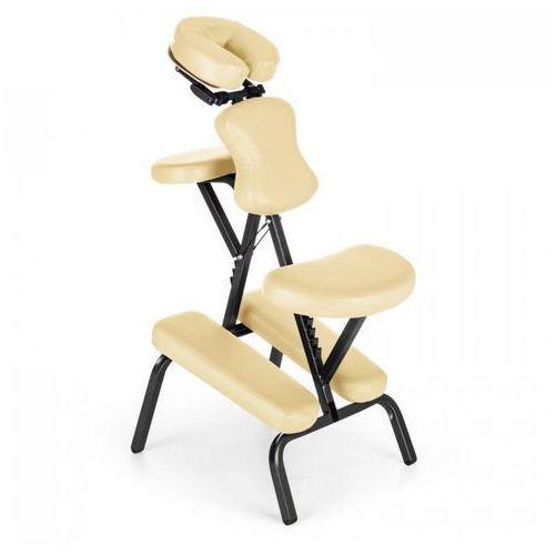 MS 300 fotel do masażu/tatuowania, obciążenie 120 kg torba transportowa kolor beżowy