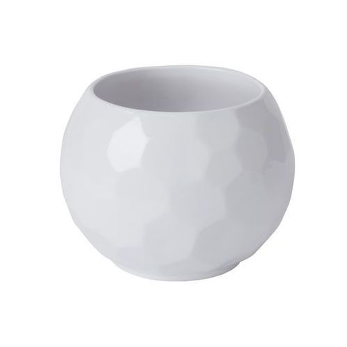 Goodhome Doniczka ceramiczna ozdobna 14 cm white ball (3663602441090)