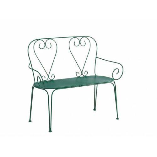 Vente-unique Ławka ogrodowa guermantes z metalu w stylu kutego żelaza – kolor zielony