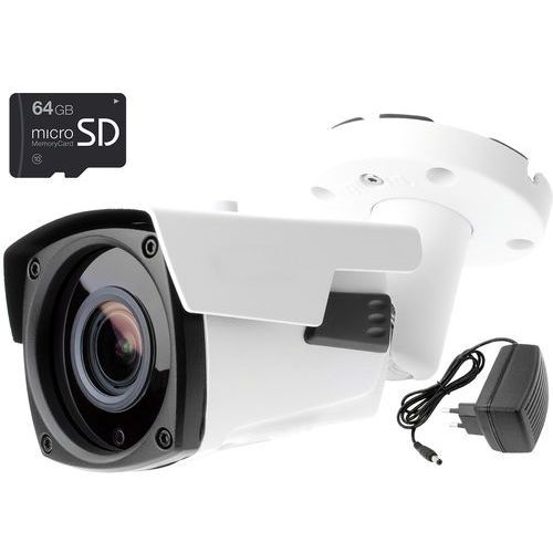 Kamera IP sieciowa KEEYO LV-IP2601IP-SD64 2Mpx IR 60m z kartą pamięci microSD 64GB, LV-IP2601IP-SD64