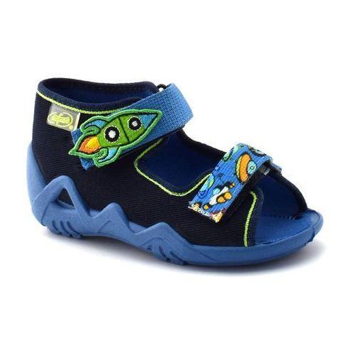 Kapcie sandałki dla dzieci 250p091 snake - granatowy marki Befado