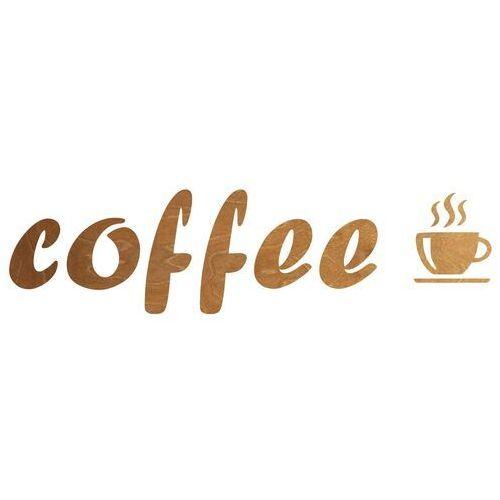 Congee.pl Dekoracja drewniana napis na ścianę coffee - 6 mm (5907509935138)