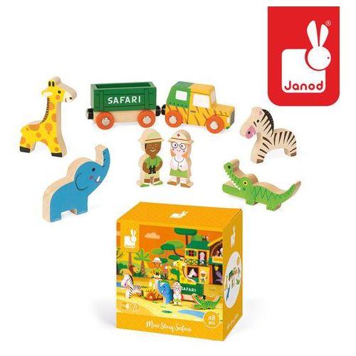Janod Dzikie zwierzęta zestaw drewniany 8 elementów kolekcja story -