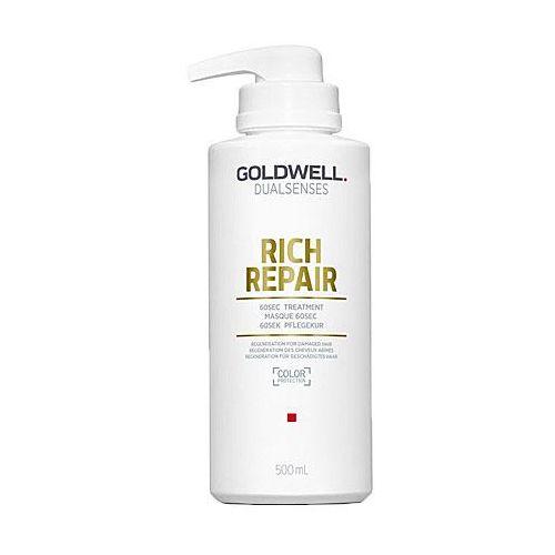 dualsenses rich repair maseczka do włosów suchych i zniszczonych (60sec treatment - color protection) 500 ml marki Goldwell