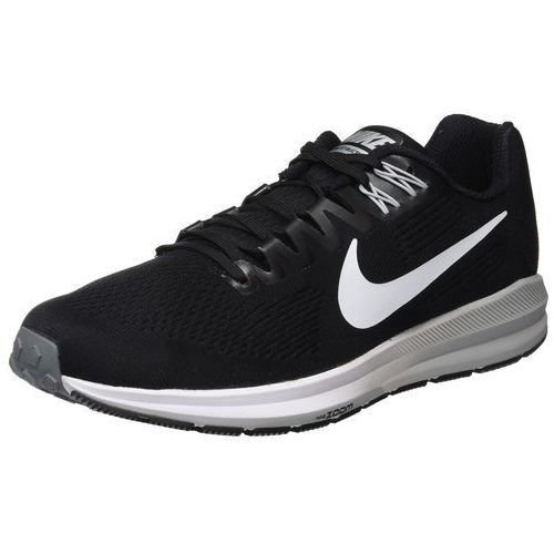 Nike Performance AIR ZOOM STRUCTURE 21 Obuwie do biegania Stabilność black/white/wolf grey/cool grey/dark grey, kolor czarny