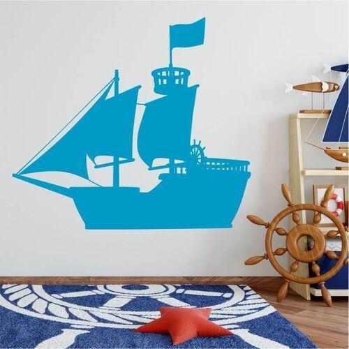 Wally - piękno dekoracji Szablon na ścianę dla dzieci statek piracki 2540