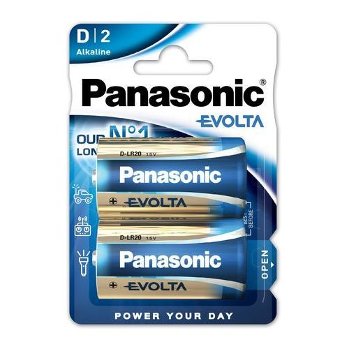 Panasonic Evolta D/Mono LR20 Alkaline Battery 2-Pack (5410853045120)