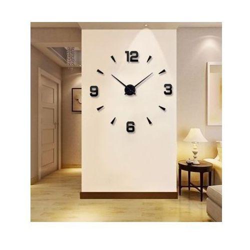 Ogromny Zegar Ścienny 3D (regulowana średnica od 70-150cm!!) - w 2 Kolorach do Wyboru., kolor czerwony