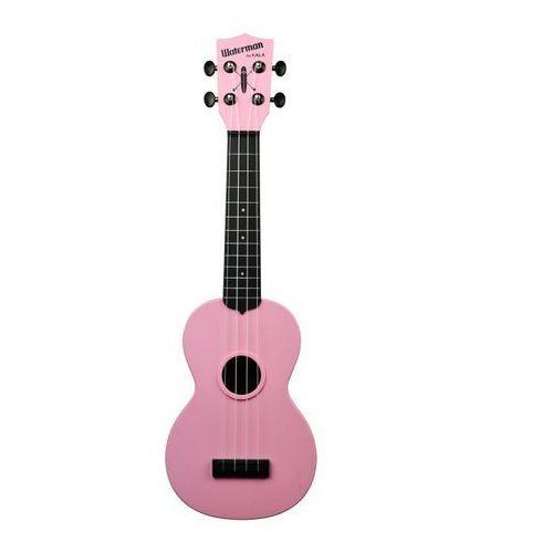 ka-swb-pk waterman, ukulele sopranowe z pokrowcem, czarno różowy marki Kala
