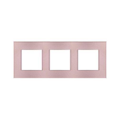 Ramka potrójna ROSA różowy metalik POLMARK