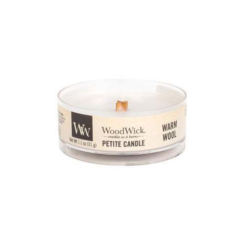 Woodwick - świeca petite warm wool 15h