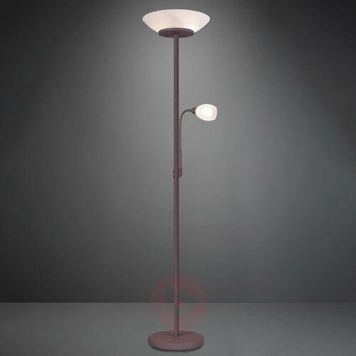 Trio rl gerry r40063124 lampa podłogowa stojąca 2x18w e27+ 1x10w e14 e14 rdzawy / biały (4017807444445)