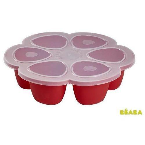 BEABA Multipojemnik silikonowy do zamrażania posiłków - Red 6 x 150 ml