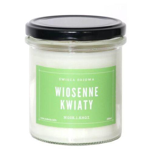 Cup&you cup and you Świeca sojowa wiosenne kwiaty - aromatyczna ręcznie robiona naturalna świeca zapachowa w słoiczku 300ml