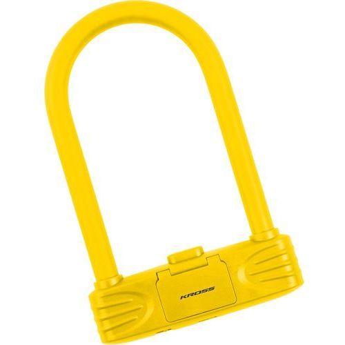 Zapięcie rowerowe typu u-lock szyfr kzu250 żółty marki Kross
