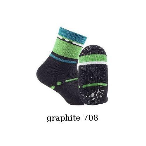 Skarpety Gatta Frotte ABS G24.N37 2-6 lat 21-23, graphite78/odc.szarego, Gatta, G24N37708014G78