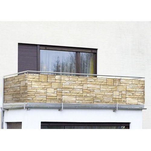 Osłona balkonowa z motywem kamienia dekoracyjnego - 500 x 85 cm, marki Wenko