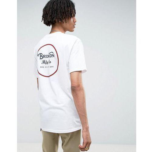 Brixton  wheeler t-shirt with back print - white