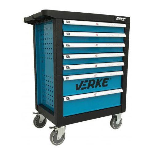 Szafka narzędziowa 7 szuflad v33105 blue + narzędzia marki Verke