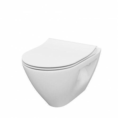 set b292 miska wc wisząca mille plus clean on + deska slim duroplast wolnoopadająca s701-454 marki Cersanit