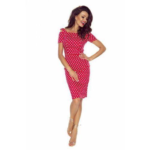 Sukienka Model Roxi 85-01 Red/ White Grochy