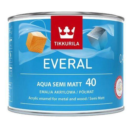 Emalia akrylowa everal aqua baza c półmat [40] 0 45 l marki Tikkurila