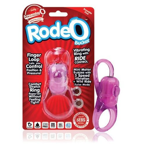 Regulowany pierścień wibrujący na penisa - the rodeo bucker purple marki Screaming o