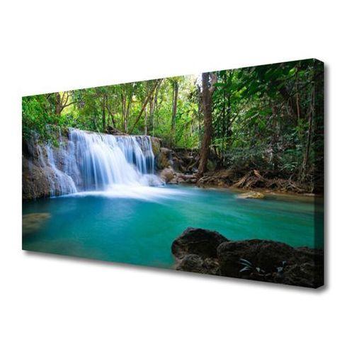 Obraz na Płótnie Wodospad Jezioro Las Natura