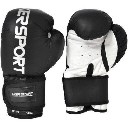 Axer sport Rękawice bokserskie  a1342 czarno-biały (10 oz) + darmowy transport! (5901780913427)