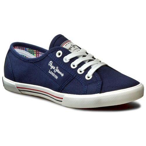 Tenisówki PEPE JEANS - Aberlady Basic 17 PLS30500 Marine 585, kolor niebieski