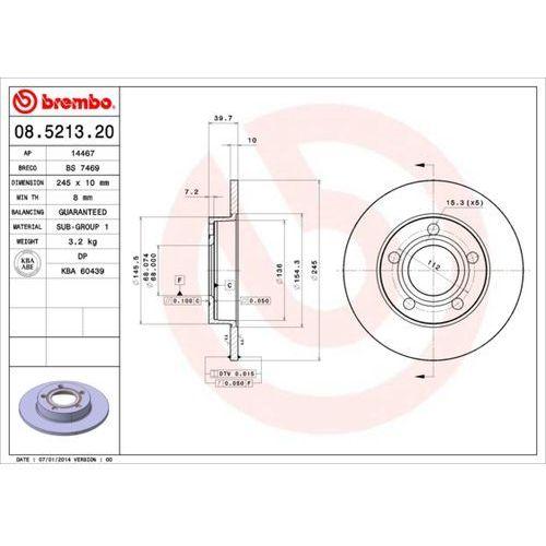 Brembo - tarcza hamulcowa (zestaw) (8020584521328)