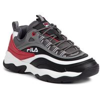 Sneakersy FILA - Ray Cb Low 1010723.150 Black/Casterock/Fila Red, kolor szary