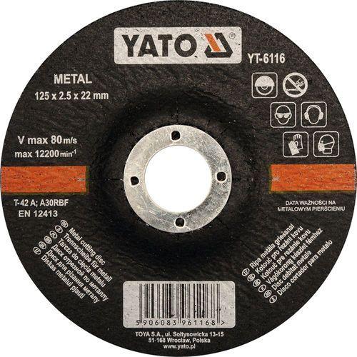 Yato Tarcza do cięcia metalu, wypukła 125x2,5x22 mm / yt-6116 / - zyskaj rabat 30 zł