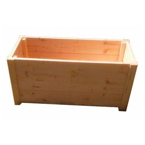 Prostokątna drewniana donica ogrodowa 15 kolorów - Trikso