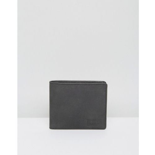 Boss orange  by hugo boss leather pulse wallet black - black