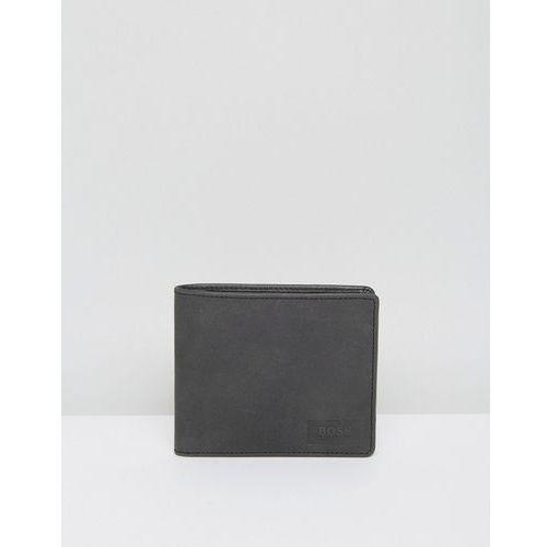 by hugo boss leather pulse wallet black - black marki Boss orange