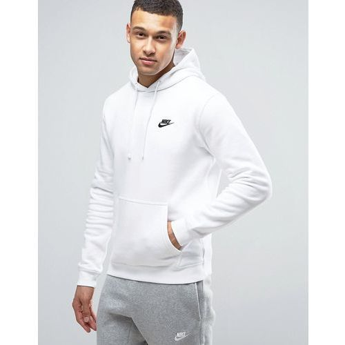 Nike pullover hoodie with embroidered logo in white 804346-100 - White