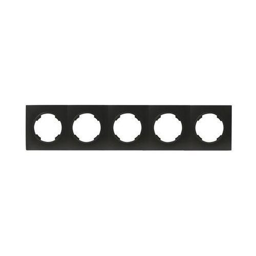 Efapel Ramka pięciokrotna soul czarny dmp solid (5903332580996)