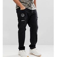 Only & Sons PLUS Carrot Fit Jeans With Badge Details - Black, jeans