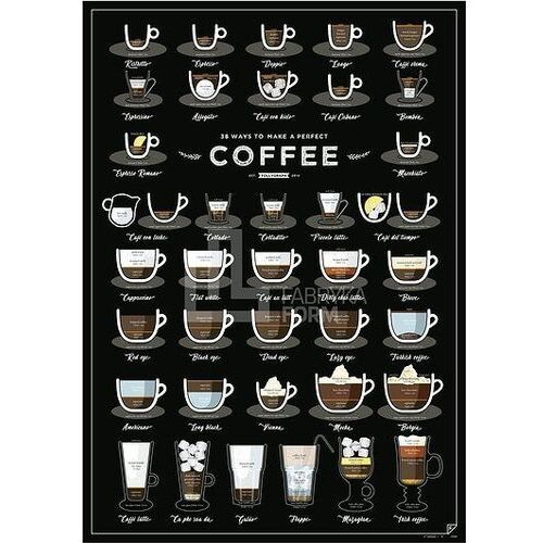 Follygraph Plakat 38 ways to make a perfect coffee 2 ed.