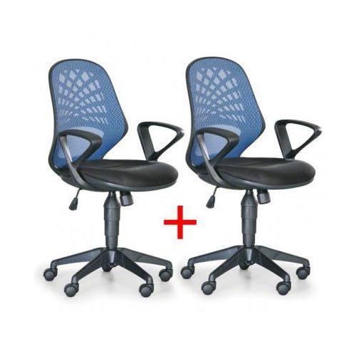 B2b partner Krzesło biurowe fler 1+1 gratis, niebieski