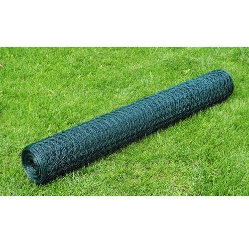vidaXL Siatka ogrodzeniowa 50 cm x 25 m, kryta PCV 1 mm - produkt z kategorii- Przęsła i elementy ogrodzenia