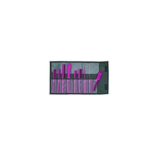 Jaguar A-line Pink, zestaw grzebieni antystatycznych, 9 szt, różowe, ref. A599-5