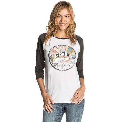 koszulka RIP CURL - Shag 3/4 Raglan Tee White (1000) rozmiar: M, kolor biały