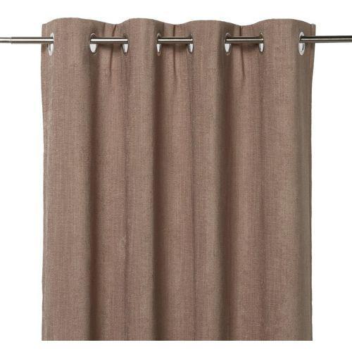 Zasłona zaciemniająca pahea 135 x 260 cm brązowa marki Goodhome
