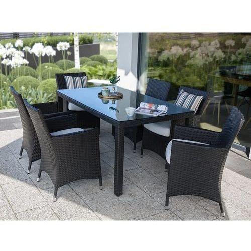 Beliani Meble ogrodowe rattan ogród patio weranda 6 krzeseł 160cm ITALY