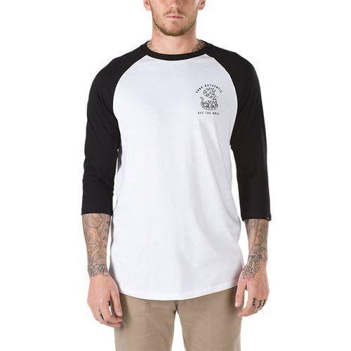 Koszulka - rattlesnake hill raglan white-black (yb2) rozmiar: xl marki Vans